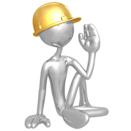 Construction Worker Yoga photo