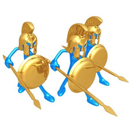 phalanx: Spartans Stock Photo