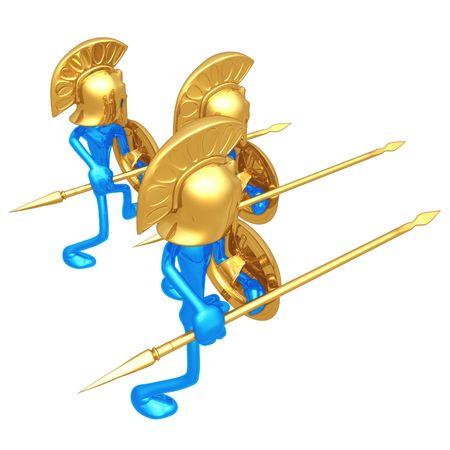 hoplite: Spartans Stock Photo