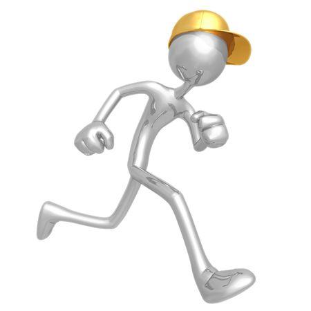 Worker Running photo