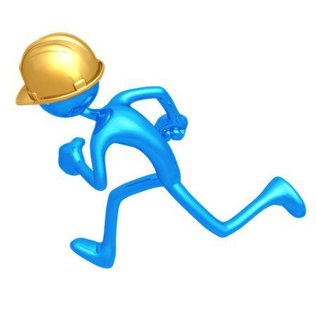 Construction Worker Running photo