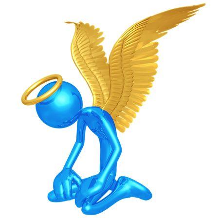 despair: Angel In Despair Stock Photo