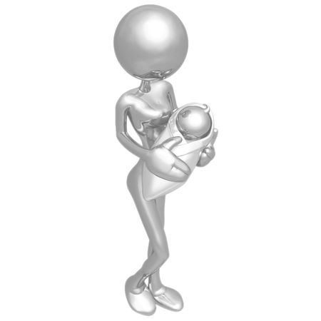 symbolic woman: Mother And Baby Stock Photo