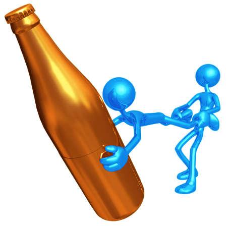 alcoholismo: Alcohol Intervenci�n Foto de archivo