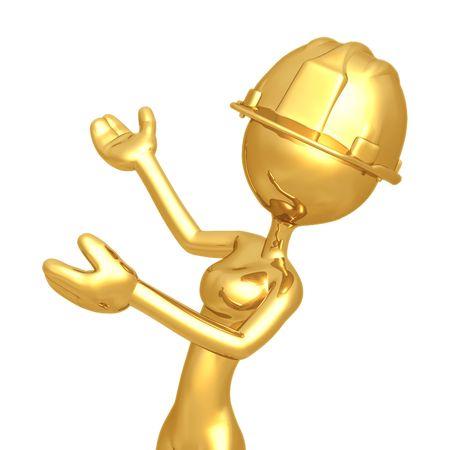 gal: Female Construction Worker Presenter