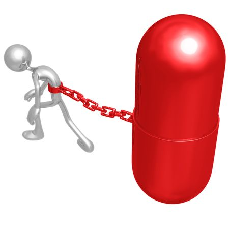 Chained To Giant Pill photo