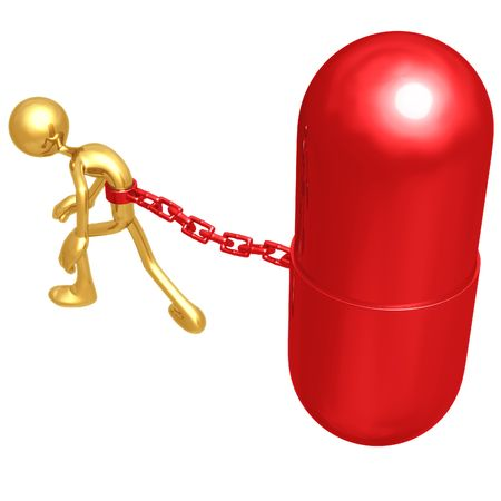 drug user: Chained To Giant Pill
