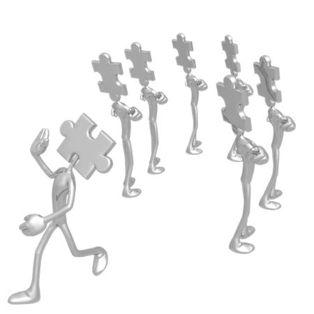 fitting in: Puzzle Piece Not Fitting In Stock Photo