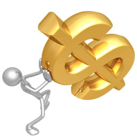 helpers: Holding Falling Dollar