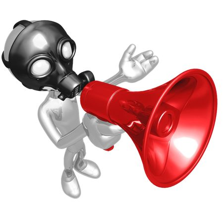 Gas Mask Megaphone Stock Photo - 4448121