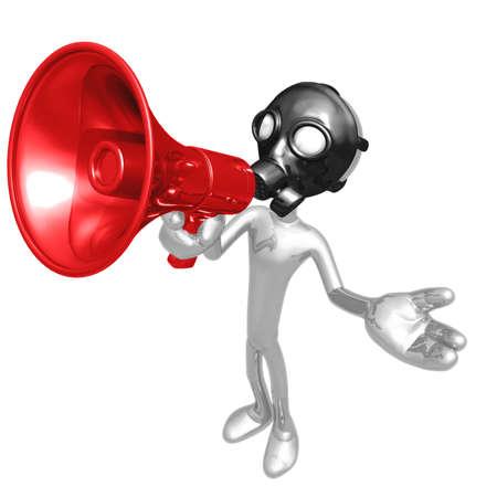 health threat: Gas Mask Megaphone