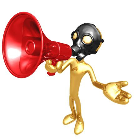 Gas Mask Megaphone Stock Photo - 4448099