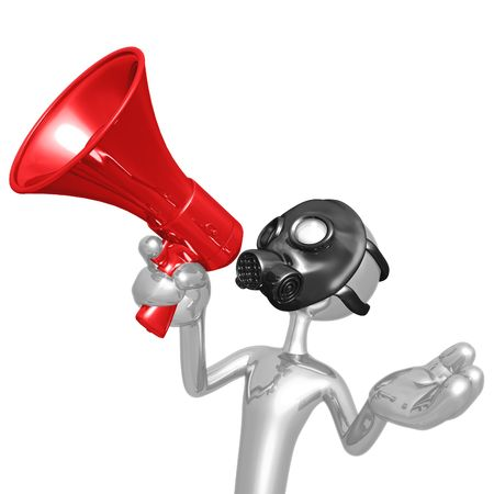 Gas Mask Megaphone Stock Photo - 4448034