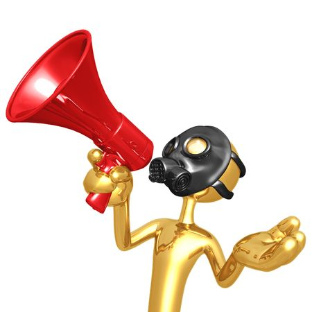 Gas Mask Megaphone Stock Photo - 4448108
