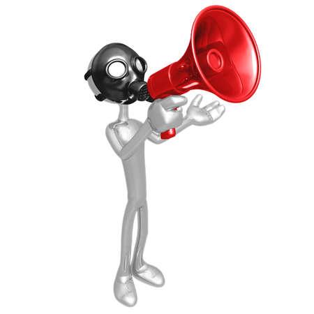 gasmask: Gas Mask Megaphone