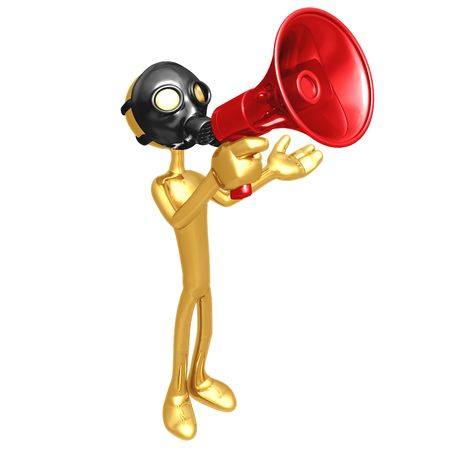 Gas Mask Megaphone photo