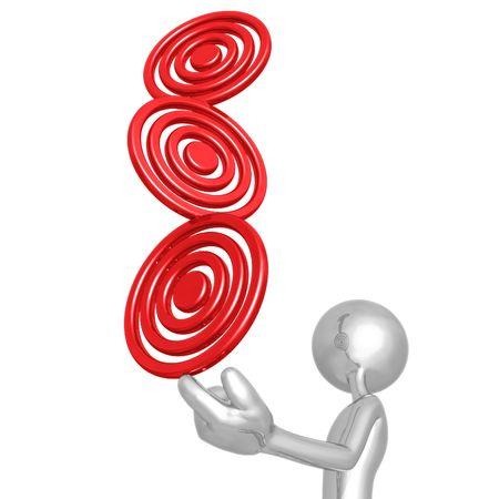 targets: Balancing Targets Stock Photo