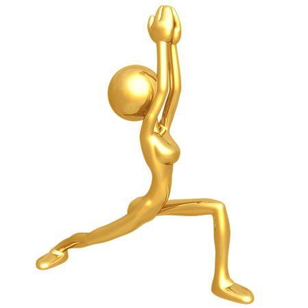 gal: Yoga Stock Photo