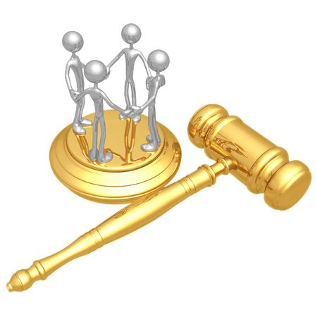 altogether: Class Action Law Stock Photo