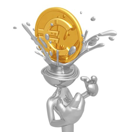Euro Coin Splashing Head photo