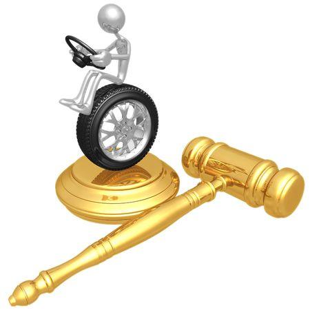 metonymy: Traffic Court Stock Photo