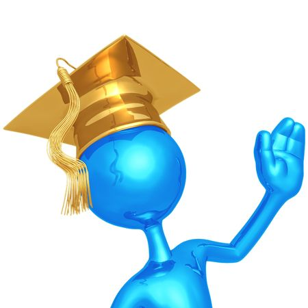 Graduate Waving Stock Photo - 4494702