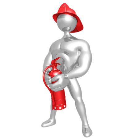 fireman: Fireman Calendar Pose