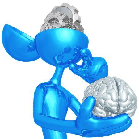 a thinker: Gear Mind Stock Photo