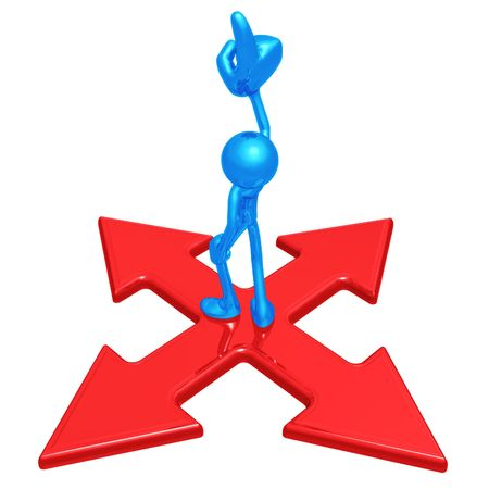 x marks the spot: Pointing Up At Crossroad