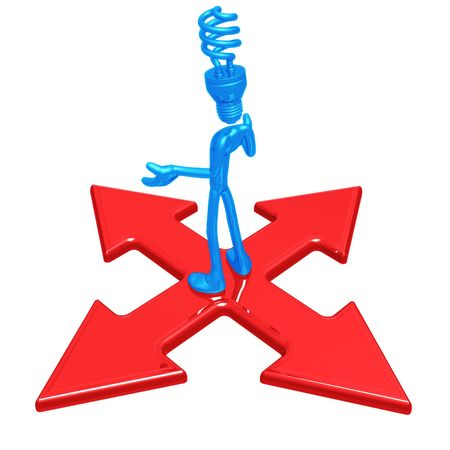 x marks the spot: EFL Head At Crossroad