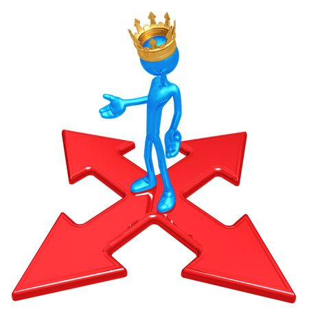 x marks the spot: King At The Crossroads Stock Photo