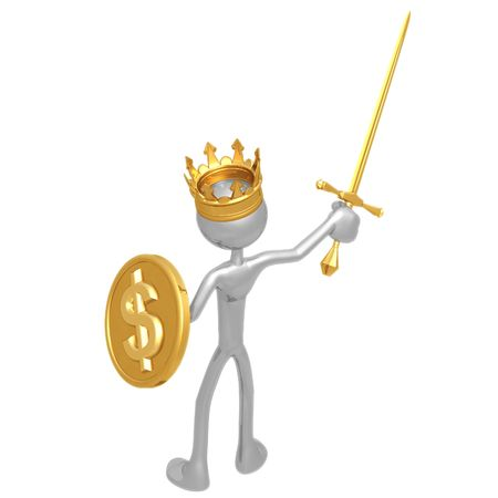 King With Dollar Coin Shield photo