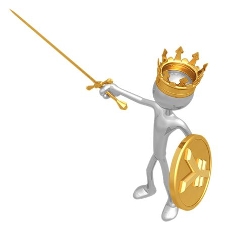 King With Yen Coin Shield Stock Photo - 4688179