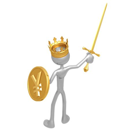 King With Yen Coin Shield photo