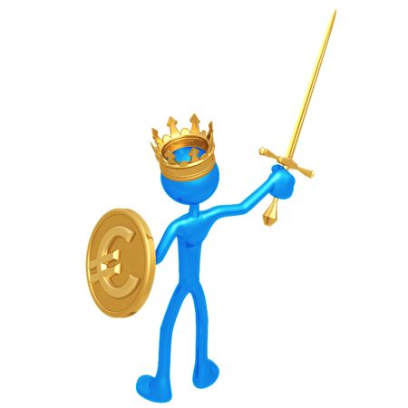 King With Euro Coin Shield photo