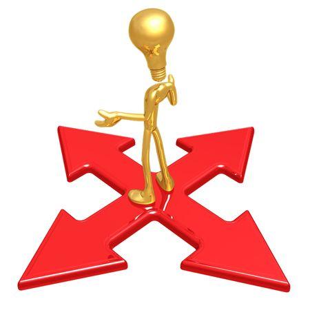 x marks the spot: Idea At The Crossroad Stock Photo
