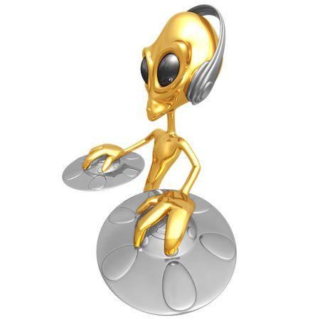 disk jockey: Alien DJ