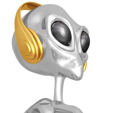 electronic music: Alien DJ