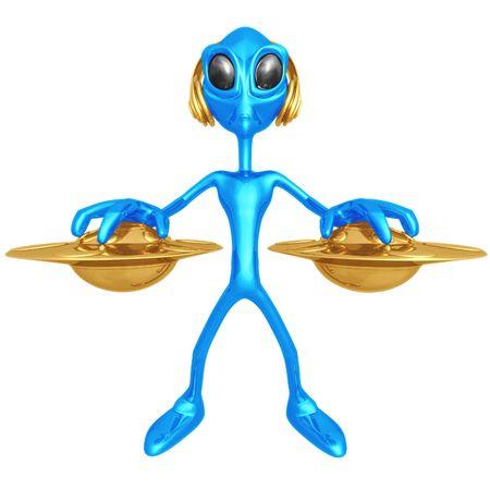 disc jockey: Alien DJ