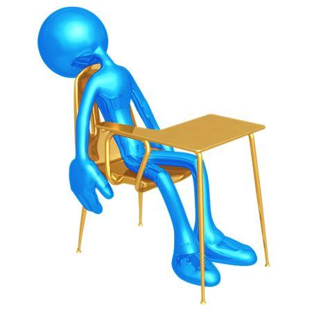 weariness: Estudiante de dormir Foto de archivo
