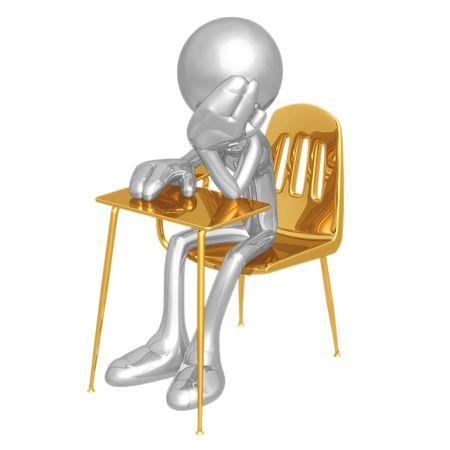 child sitting: Bored Student