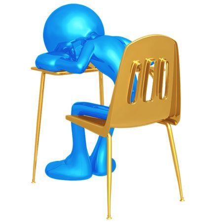 weariness: Sleeping Student