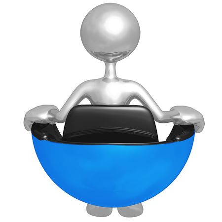 Sitting In Hovering Futuristic Chair Stock Photo - 4750226