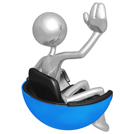 Waving In Hovering Futuristic Chair photo
