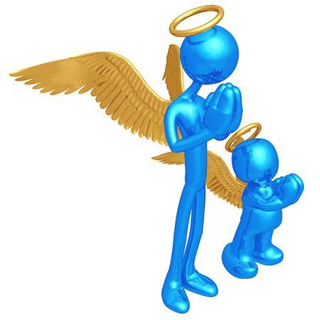 Original and Copycat Angel Stock Photo - 4752007