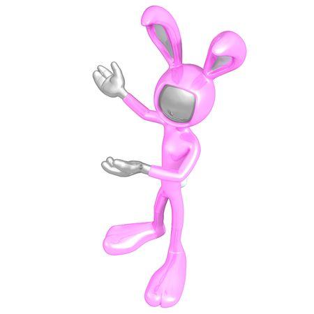 Easter Bunny Presenter Stock Photo - 4749111
