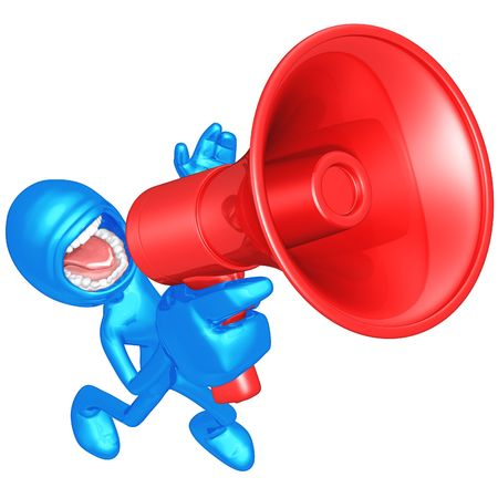 promoter: Megaphone Stock Photo