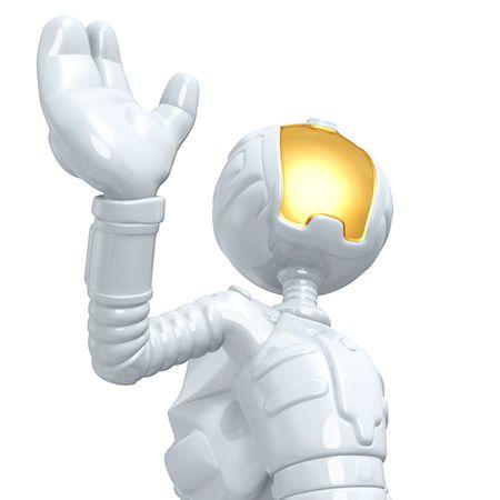 spacesuit: Astronaut Waving