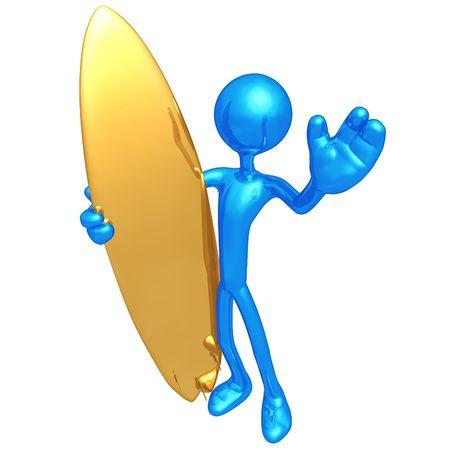 Surfer Waving photo