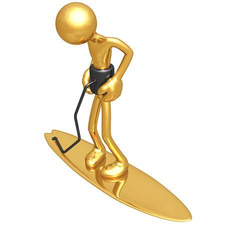 umbilical cord: Surfboard Lifeline Leash